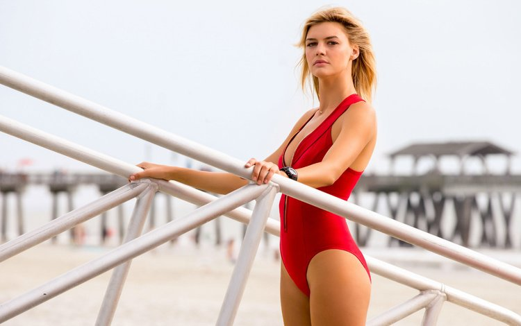 девушка, блондинка, модель, купальник, келли рорбах, спасатели малибу, girl, blonde, model, swimsuit, kelly rohrbach, baywatch