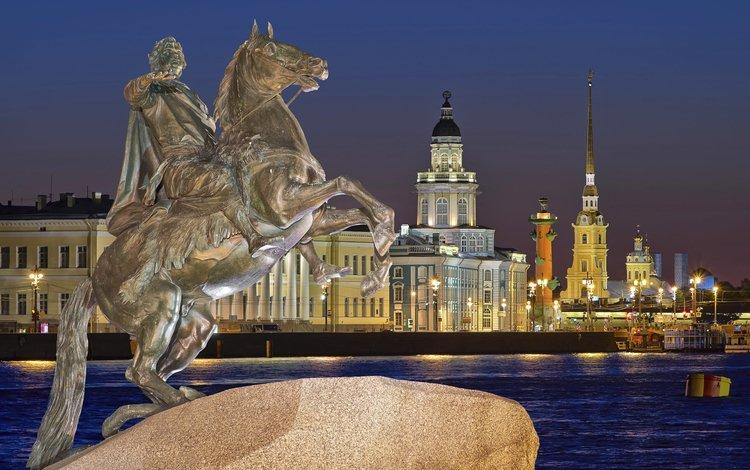 the city, russia, saint petersburg, monument