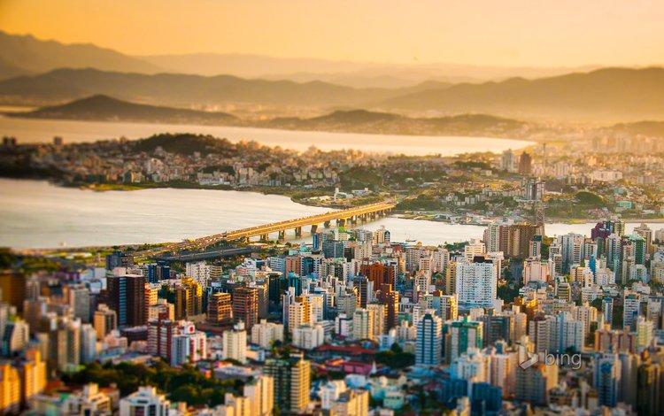 город, бразилия, bing, флорианополис, the city, brazil, florianopolis