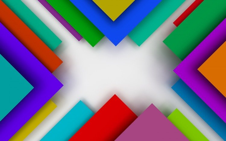 abstraction, colorful, triangles