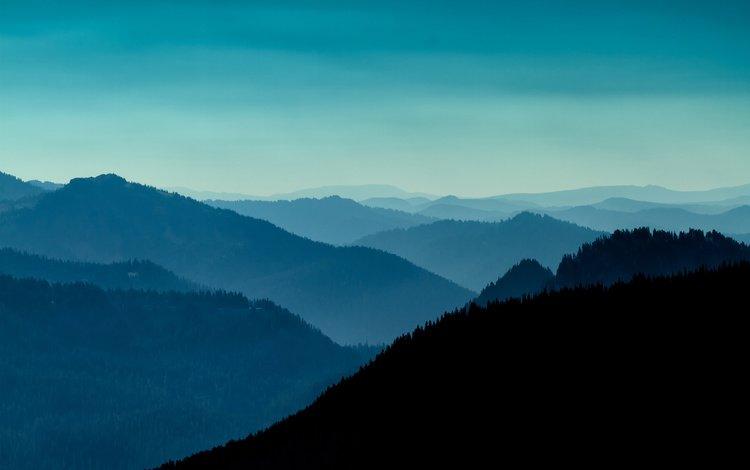 вечер, горы, холмы, пейзаж, вашингтон, сша, the evening, mountains, hills, landscape, washington, usa