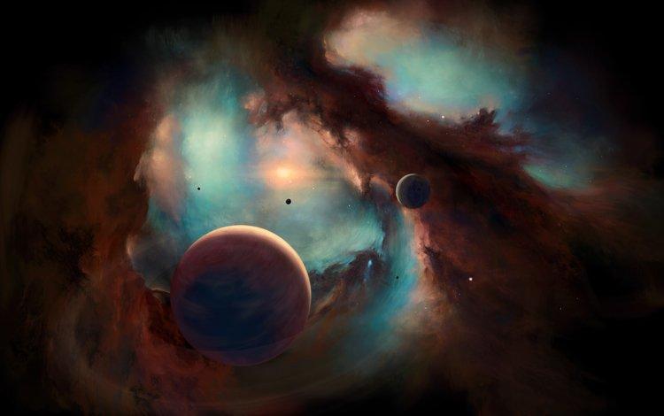 космос, планеты, туманность, space, planet, nebula