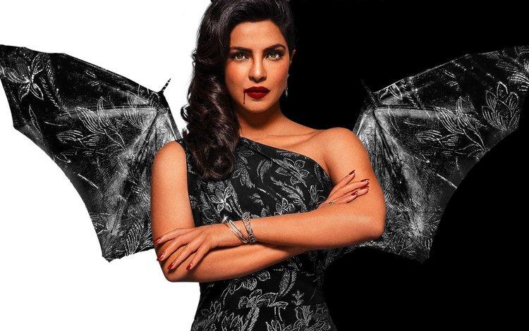 модель, приянка чопра, губы, актриса, макияж, вампир, хеллоуин, болливуд, индийская, model, priyanka chopra, lips, actress, makeup, vampire, halloween, bollywood, indian