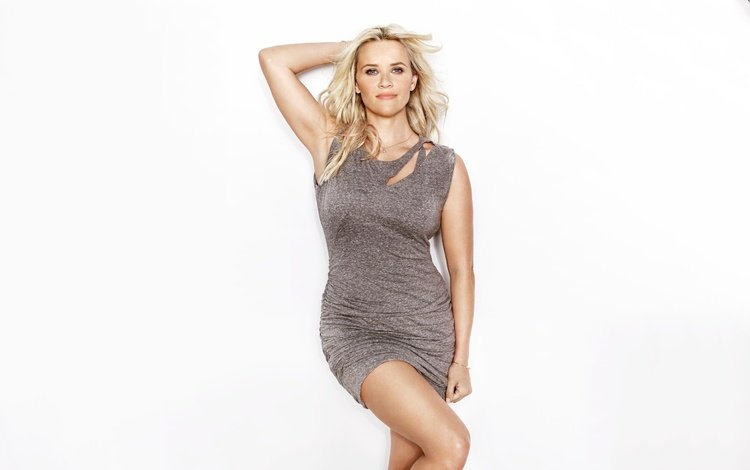 girl, dress, blonde, look, hair, face, white background, reese witherspoon