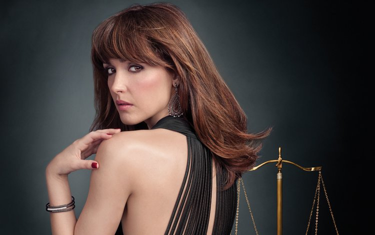 girl, look, hair, face, actress, rose byrne, bare shoulder