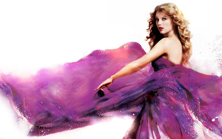 девушка, платье, белый фон, певица, тейлор свифт, girl, dress, white background, singer, taylor swift