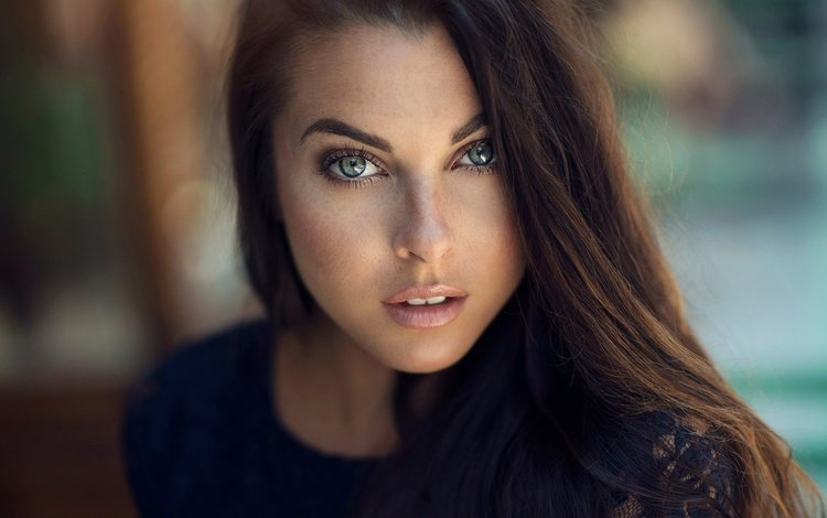 girl, portrait, look, hair, face, freckles, dani diamond