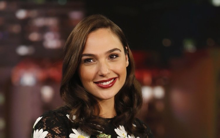 girl, smile, look, model, hair, lips, face, actress, lipstick, gal gadot