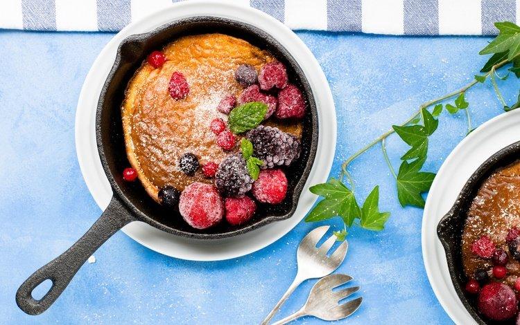ягоды, сладкое, выпечка, десерт, кекс, сковорода, berries, sweet, cakes, dessert, cupcake, pan