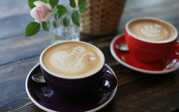 цветы, рисунок, кофе, чашки, капучино, пенка, flowers, figure, coffee, cup, cappuccino, foam