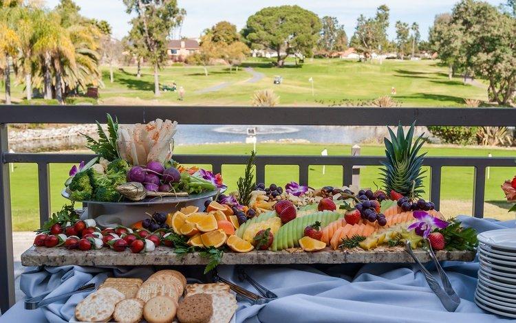 фрукты, ягоды, овощи, печенье, нарезка, fruit, berries, vegetables, cookies, cutting