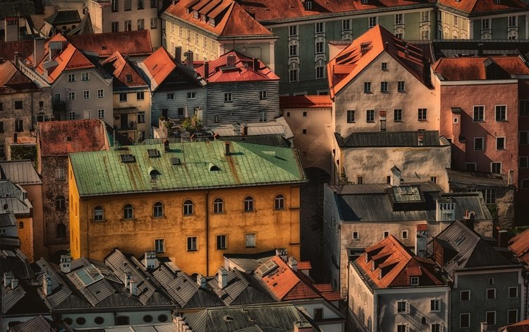 germany, the urban landscape, bavaria, passau