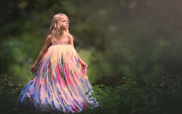 природа, ребенок, фон, платье, взгляд, дети, девочка, волосы, лицо, nature, child, background, dress, look, children, girl, hair, face