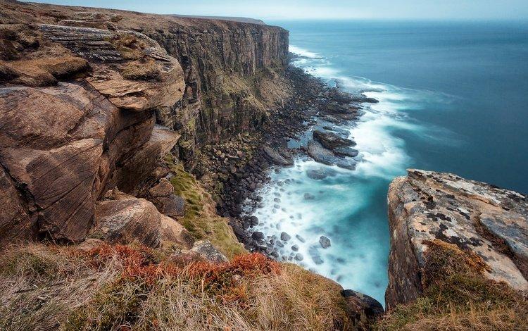 скалы, камни, море, горизонт, побережье, rocks, stones, sea, horizon, coast
