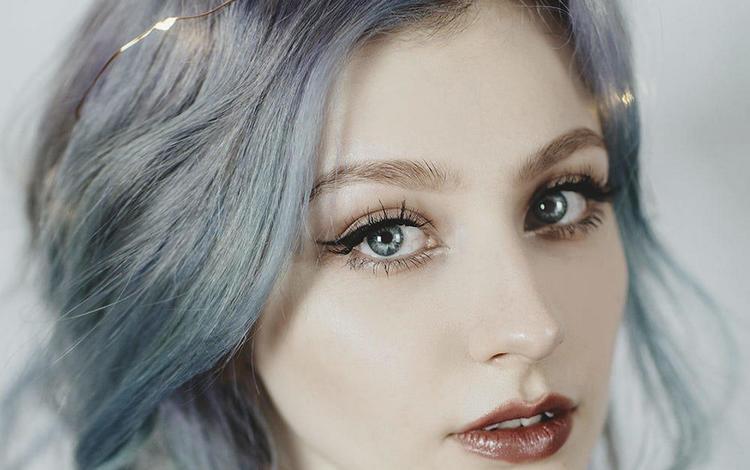девушка, портрет, взгляд, волосы, губы, лицо, jovana rikalo, сверкание, girl, portrait, look, hair, lips, face, sparkle