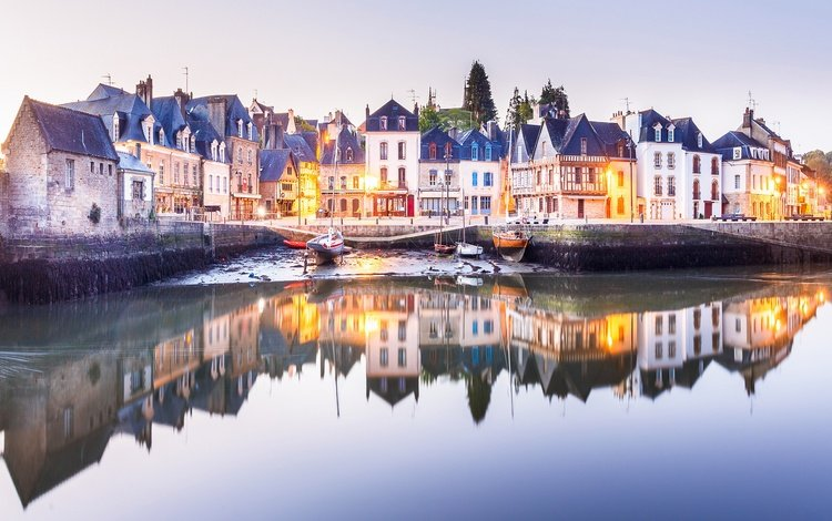 вода, отражение, дома, франция, оре, water, reflection, home, france, åre