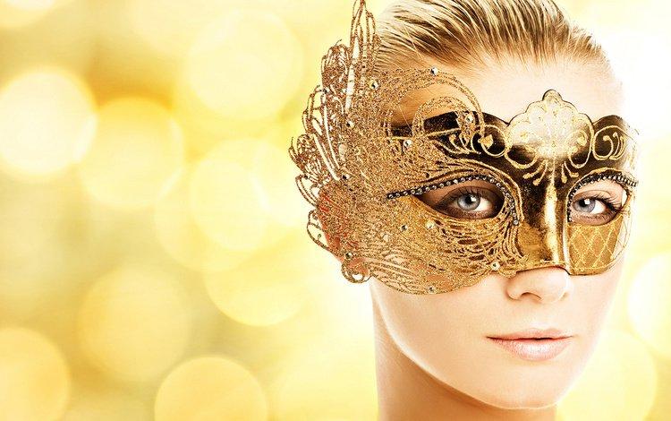 глаза, девушка, маска, блондинка, взгляд, модель, лицо, eyes, girl, mask, blonde, look, model, face
