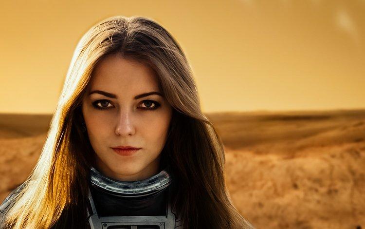космонавт, свет, марс, девушка, мечта, настроение, портрет, лето, взгляд, фантазия, модель, astronaut, light, mars, girl, dream, mood, portrait, summer, look, fantasy, model