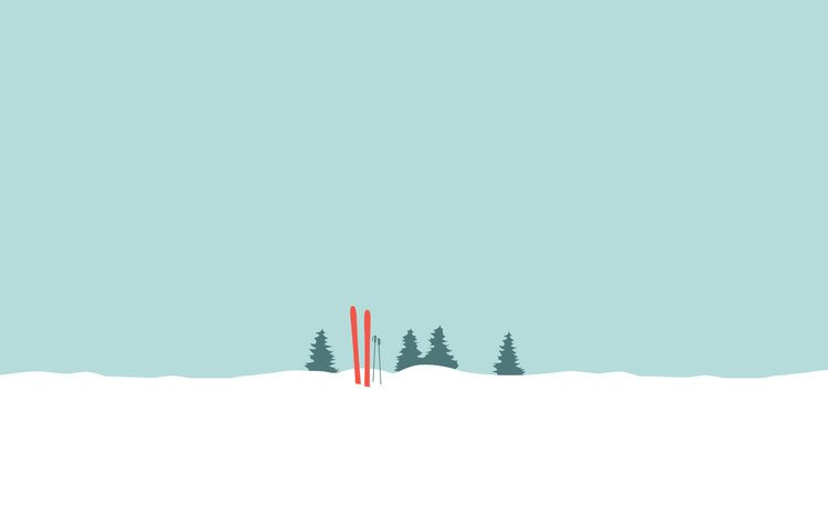 снег, вектор, графика, минимализм, лыжи, snow, vector, graphics, minimalism, ski