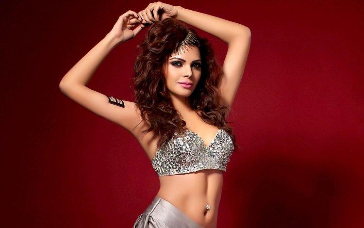 девушка, взгляд, модель, волосы, лицо, индийская, шерлин чопра, girl, look, model, hair, face, indian, sherlyn chopra