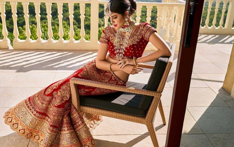 девушка, поза, брюнетка, модель, волосы, фигура, индийская, ювелирные изделия, girl, pose, brunette, model, hair, figure, indian, jewelry