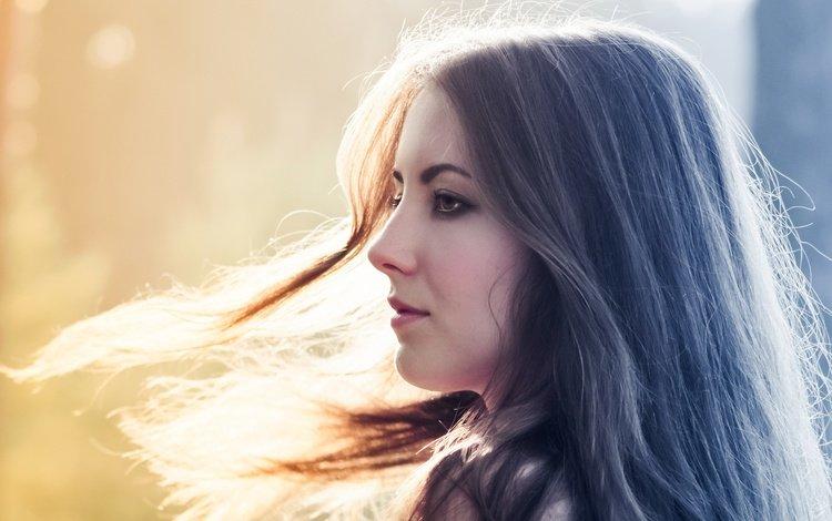 свет, солнце, девушка, настроение, портрет, модель, профиль, ветер, light, the sun, girl, mood, portrait, model, profile, the wind