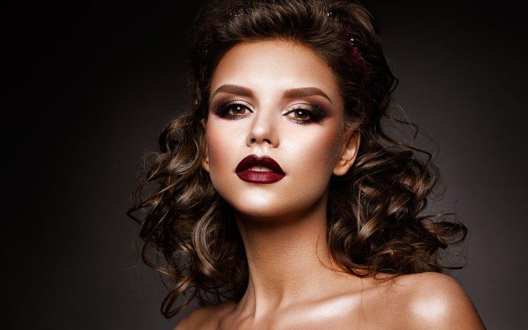 девушка, фото, портрет, взгляд, волосы, лицо, k, girl, photo, portrait, look, hair, face