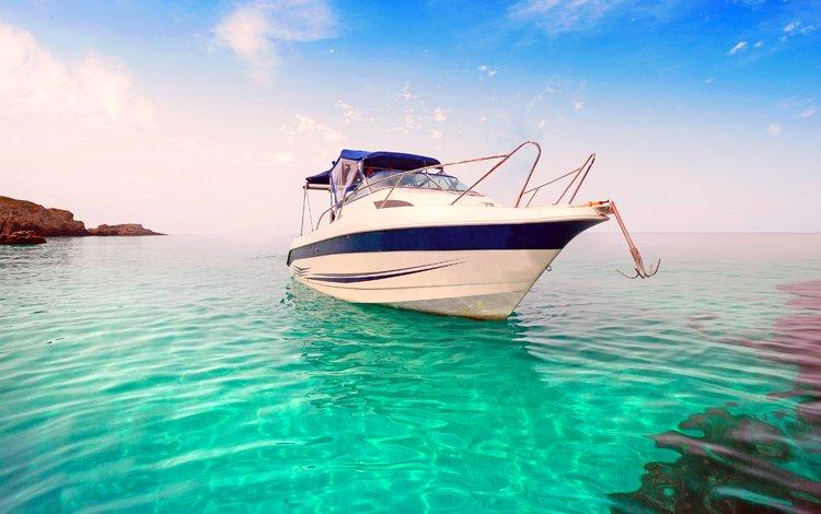 море, катер, sea, boat