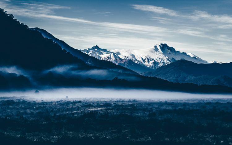 небо, облака, горы, природа, туман, the sky, clouds, mountains, nature, fog
