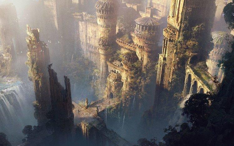 храм, окружение, замок, широкие, водопад, каменное, руины, ницца, библиотека, read, contest, неба, виноградная лоза, дерева, temple, environment, castle, wide, waterfall, stone, ruins, nice, library, sky, vine, wood