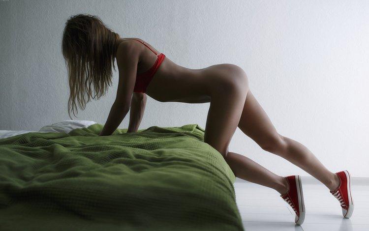 девушка, белье, поза, попка, шатенка, попа, ura pechen, кеды, модель, комната, фотограф, секси, girl, linen, pose, brown hair, ass, sneakers, model, room, photographer, sexy
