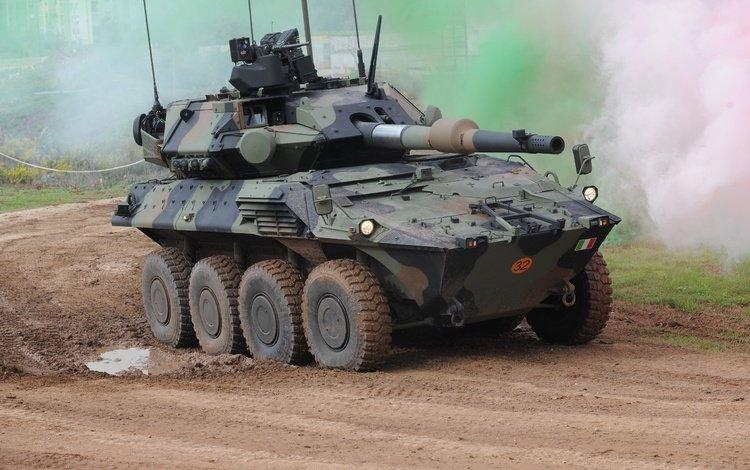 итальянский, бронеавтомобиль, колёсный танк, b1 centauro ii, 120mm, italian, armored car, wheeled tank