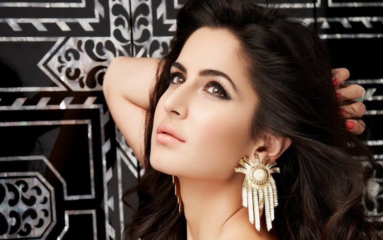 eyes, girl, brunette, model, lips, face, actress, makeup, indian, katrina kaif