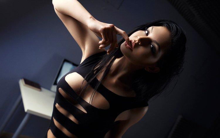 девушка, белье, поза, спортивная, брюнетка, ura pechen, модель, комната, грудь, фотограф, секси, girl, linen, pose, sports, brunette, model, room, chest, photographer, sexy