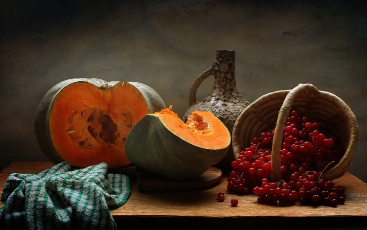 autumn, pitcher, pumpkin, still life, kalina