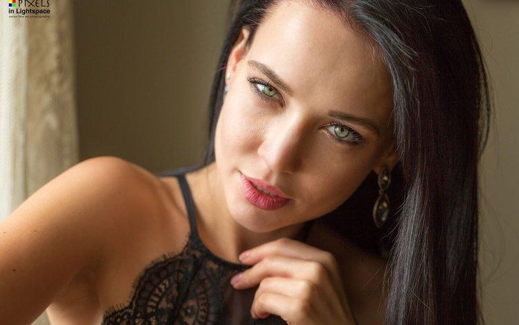 портрет, брюнетка, взгляд, модель, макияж, ангелина петрова, mladen dakic, portrait, brunette, look, model, makeup, angelina petrova