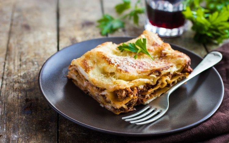 greens, lasagna