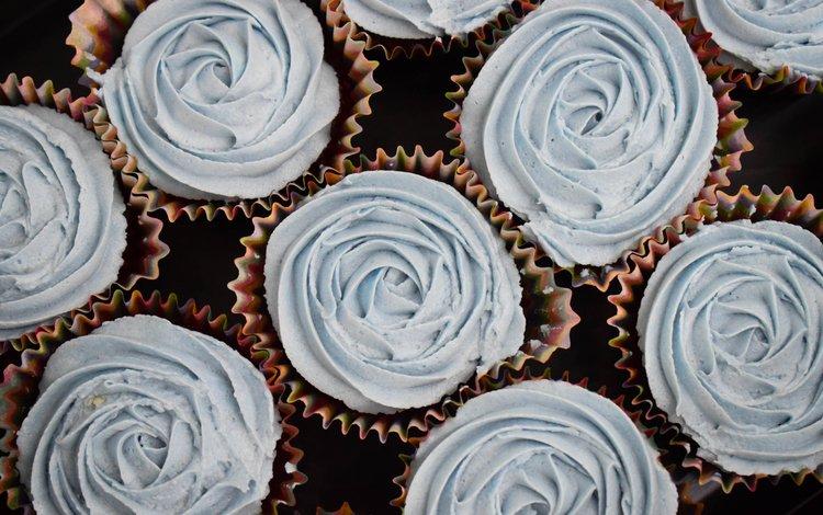 sweet, dessert, cupcakes, cream