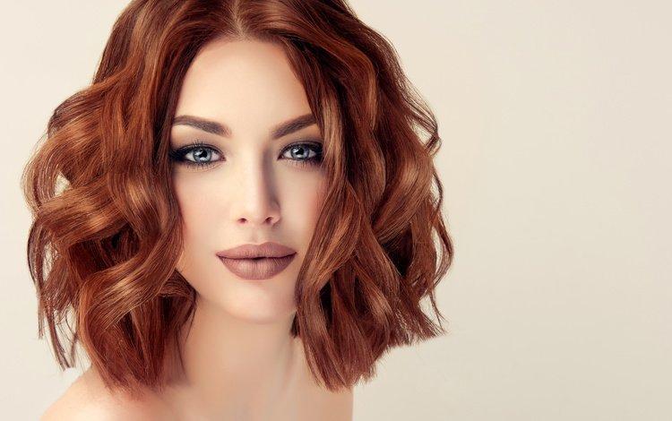 девушка, взгляд, лицо, макияж, локоны, 11, girl, look, face, makeup, curls