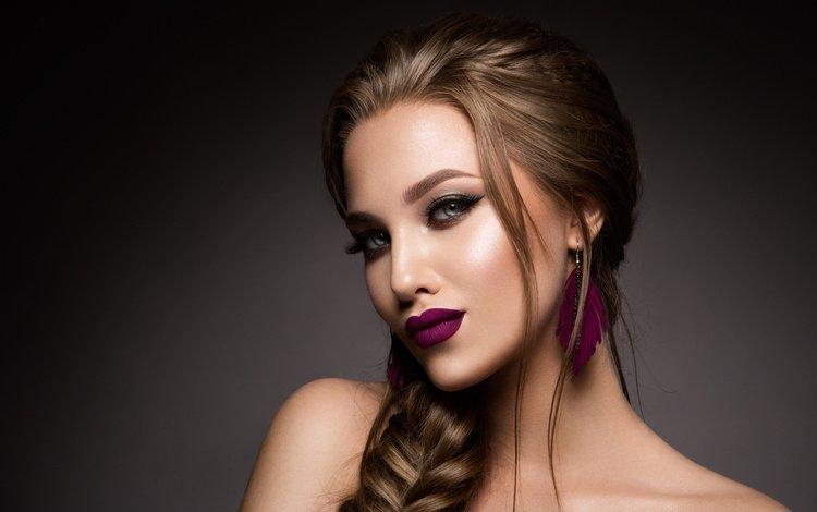 девушка, портрет, взгляд, волосы, лицо, 15, girl, portrait, look, hair, face