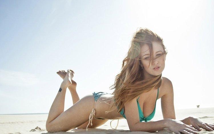 девушка, песок, пляж, взгляд, модель, тату, girl, sand, beach, look, model, tattoo