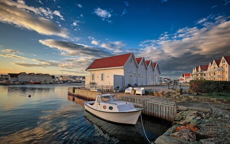 лодки, причал, норвегия, orway, krehamn, boats, pier, norway