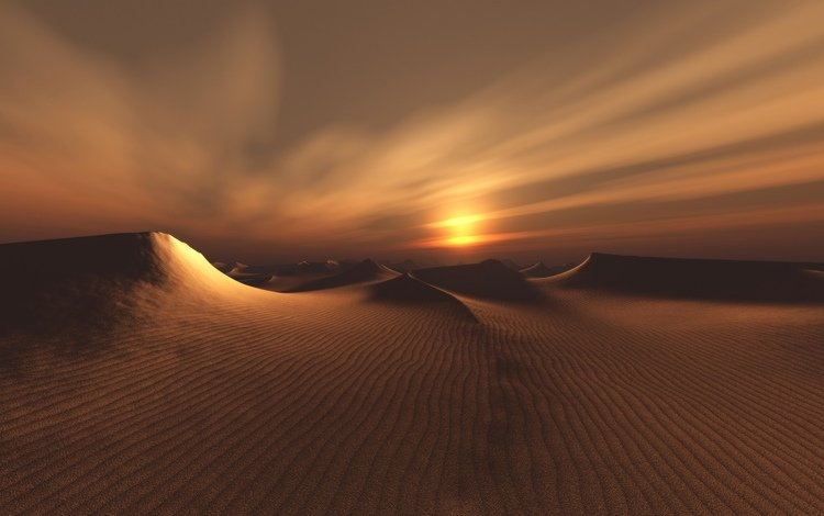 sunrise, sunset, sand, dunes