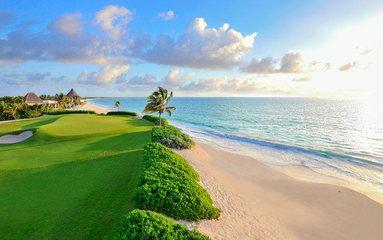 sea, beach, tropics, golf club