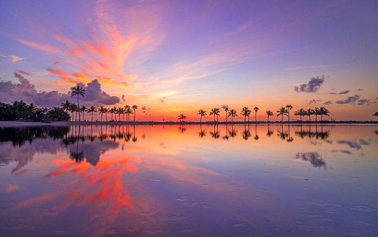 закат, море, тропики, sunset, sea, tropics