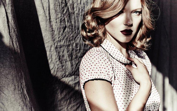 стиль, фотосессия, девушка, леа сейду, портрет, взгляд, волосы, губы, лицо, актриса, style, photoshoot, girl, lea seydoux, portrait, look, hair, lips, face, actress