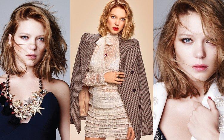girl, look, model, hair, face, actress, lea seydoux