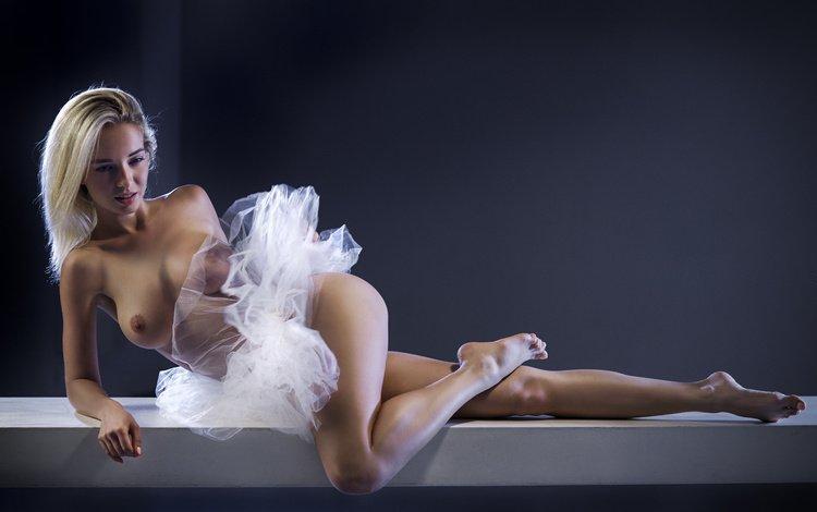 girl, pose, blonde, model, chest, legs, vladimir nikolaev