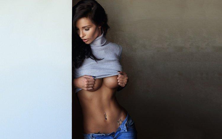 девушка, модель, грудь, позирует, шон арчер, girl, model, chest, posing, sean archer