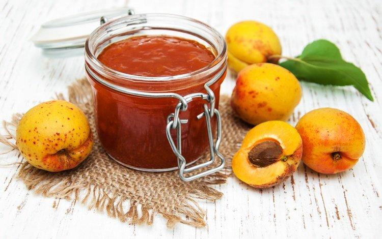fruit, jam, apricot, bank, apricots
